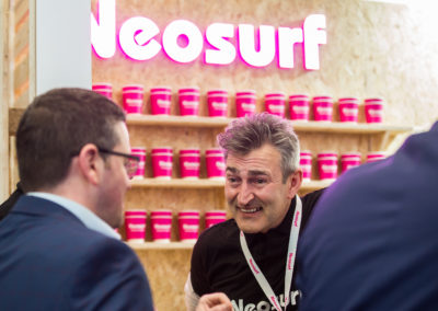 Ian at a Neosurf event